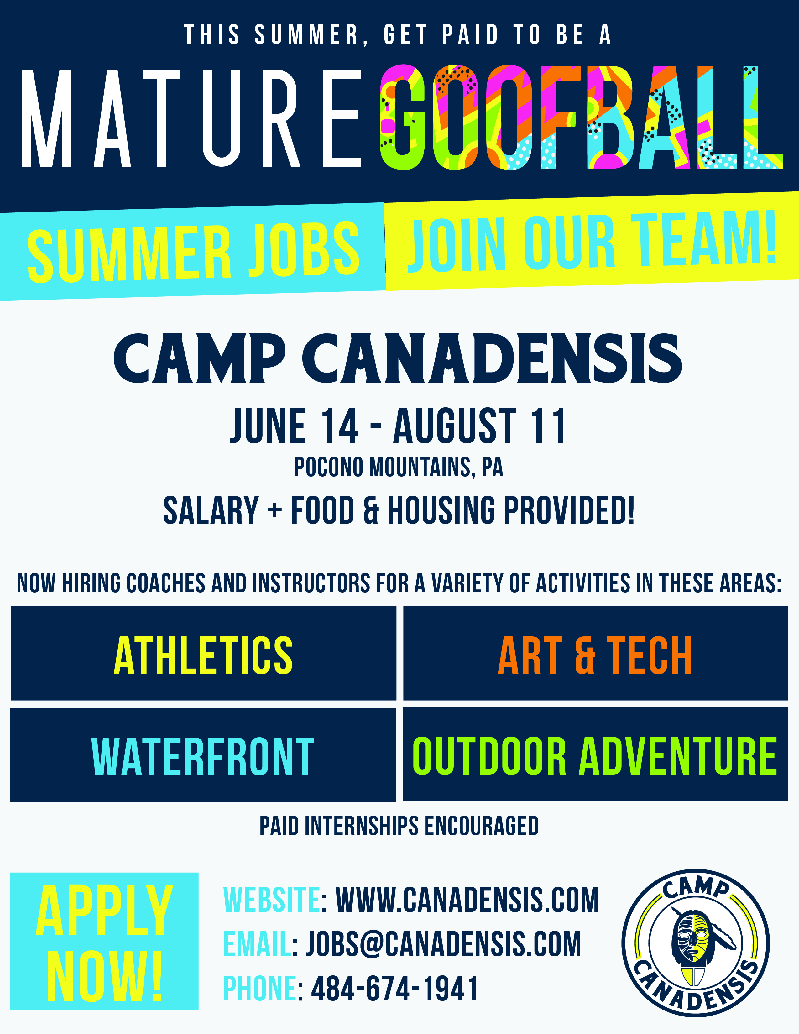 Summer Camp Counselor. Camp Canadensis