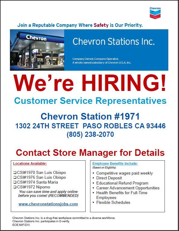 Customer Service Representatives in Paso Robles, CA, USA