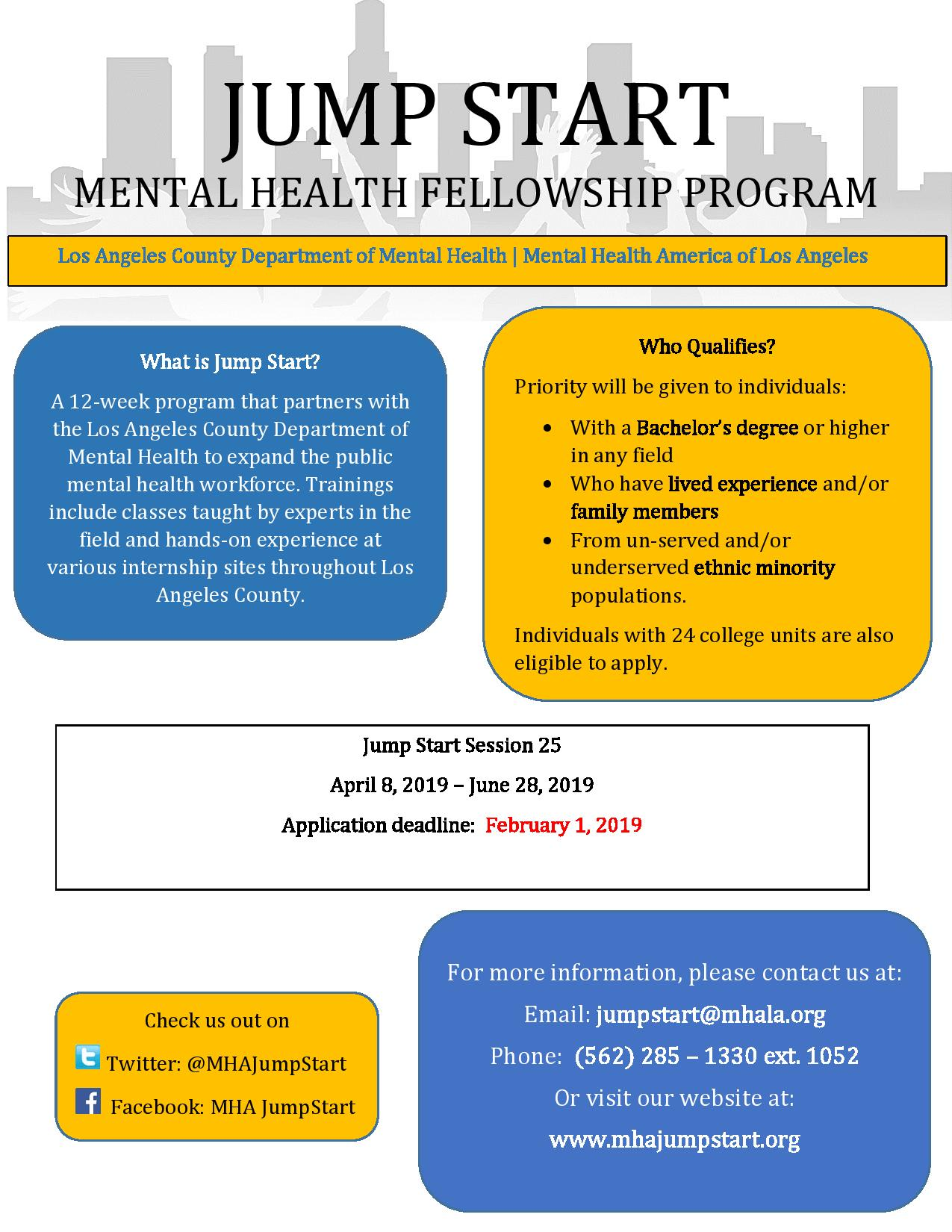 Mental Health Fellowship Program In Long Beach Ca Usa