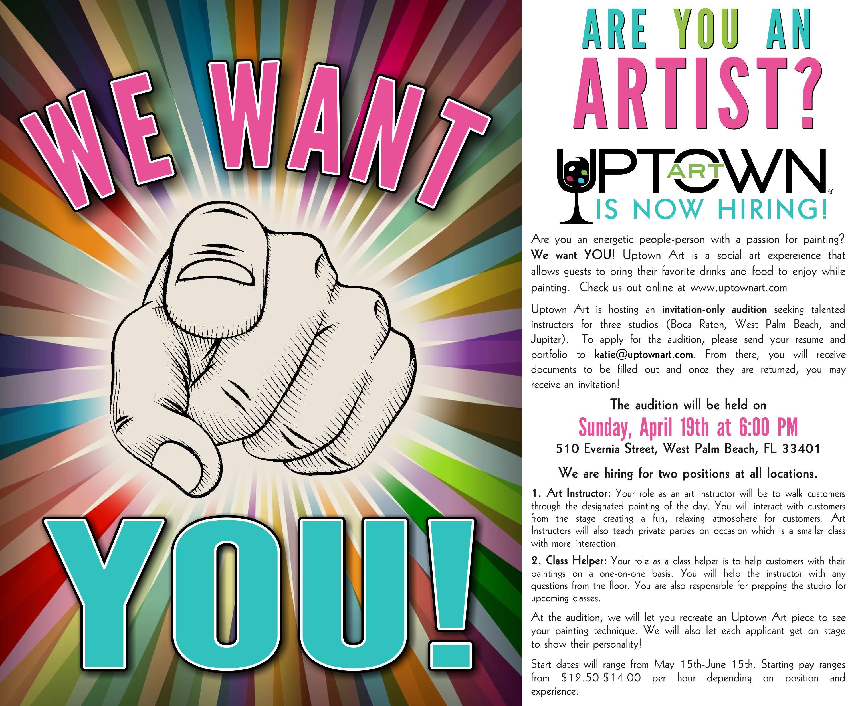 Uptown Art Calendar West Palm Beach : Art instructor assistant in west palm beach fl