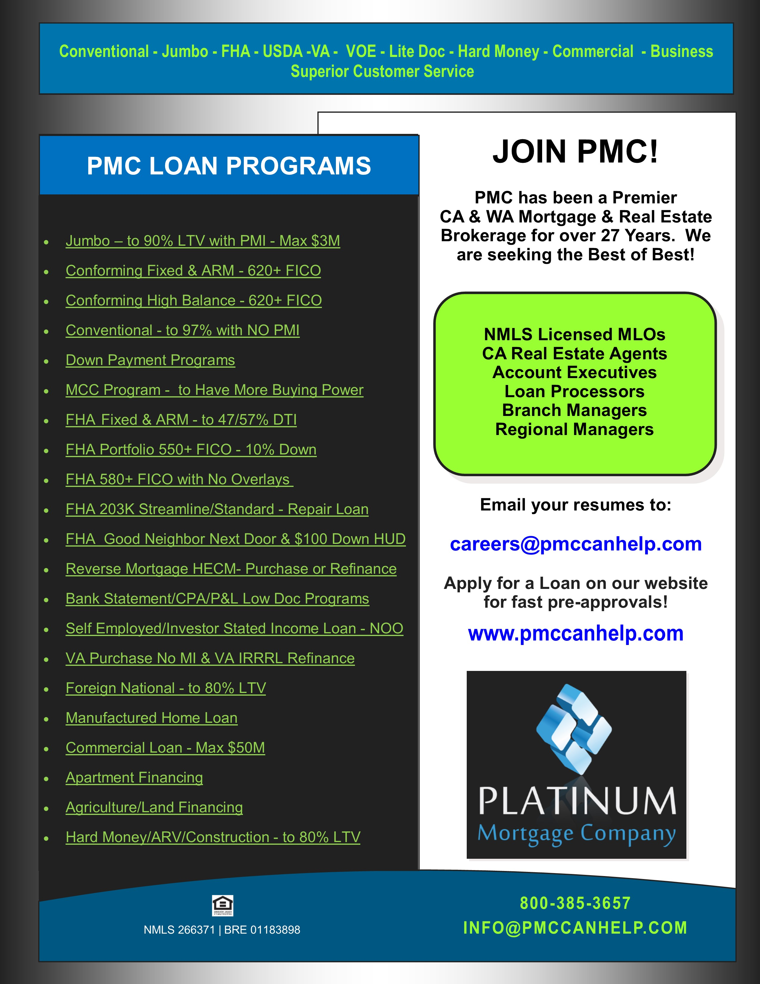 mortgage profile exec business plan