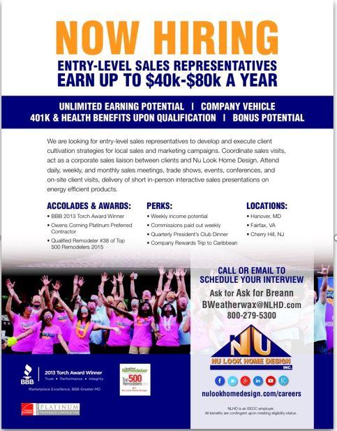 Entry level sales marketing fairfax va united states - Nu look home design ...
